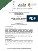 V Jornadas GEALA-Primera Circular-Convocatoria