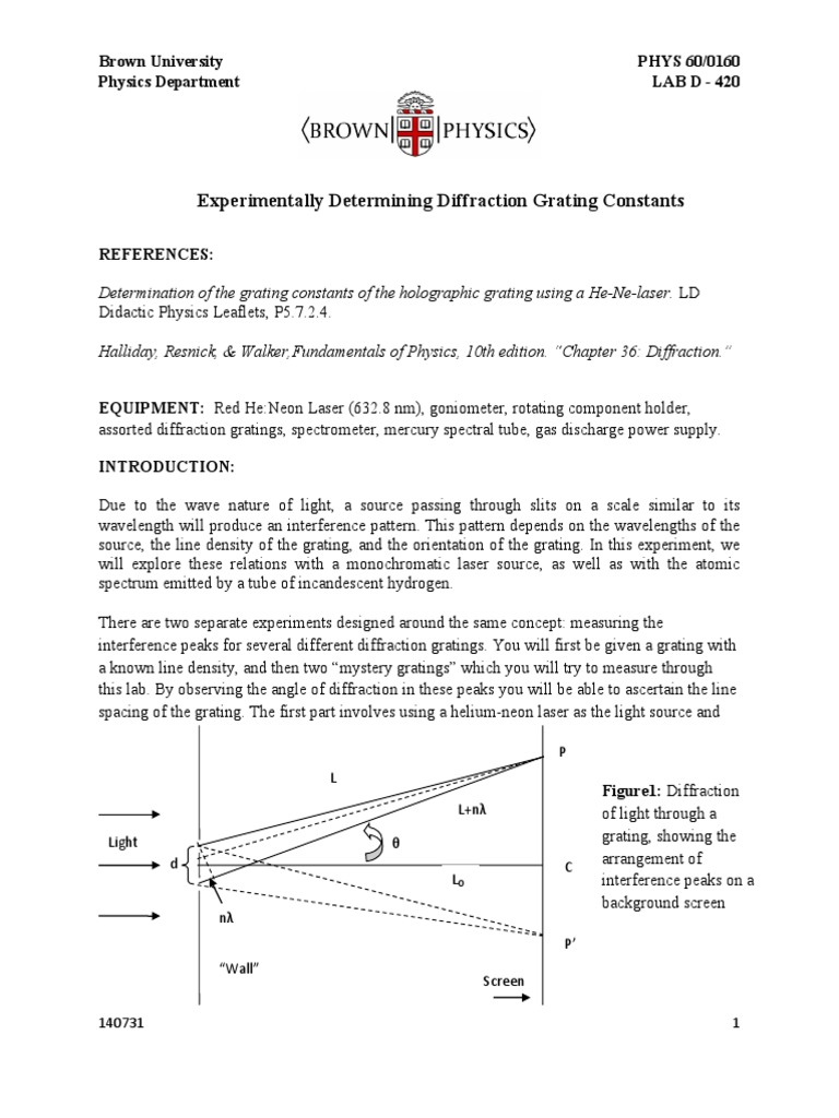 diffraction_grating-2 pdf | Diffraction | Interference (Wave