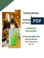 Whole Foods Market - John Mackey - Conscious Business, Conscious CapitalismConscious Capitalism
