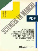 Mfg Fr Publications Diverses Tontine Dans Pays en Developpement 1990