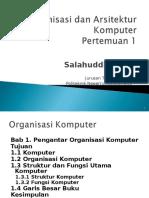 Arsitektur Dan Organisasi Komputer 1