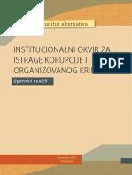 Institucionalni Okviri Za Istrage Korupcije i Organizovanog Kriminala Uporedni Modeli