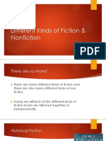 different kinds of fiction   nonfiction