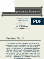 Risk Management and Insurance Assignment 01