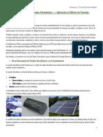 Trabajo de Investigación Sobre Paneles Fotovoltaicos y Su Aplicación en Edificios de Viviendas