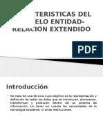 Caracteristicas Del Modelo Entidad Relacion Extendido