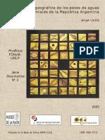 Distribucion Geografica de Los Peces de Aguas Continentales de La Argentina