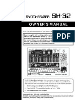 Roland SH-32 Owners Manual