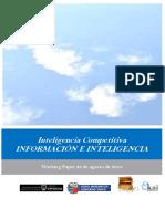 Inteligencia Competitiva. INFORMACIÓN E INTELIGENCIA