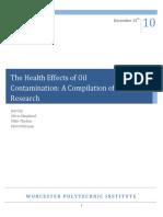Effets de la contamination par le pétrole sur la santé (anglais)