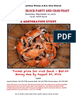 Metropolitan Wesley AME Zion Church Crab Feast FlyerV3 2016 09 10