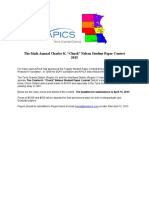 Charles K Chuck Nelson Student Paper Contest 2015
