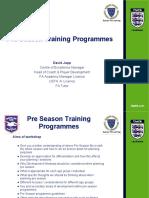 Brighton Pre-Season Workshop