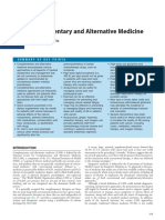 Complementary and Alternative Medicine in Oncology