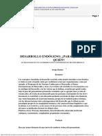 BOISIER, S. Desarrollo Endógeno, Para Qué, Para Quién PDF