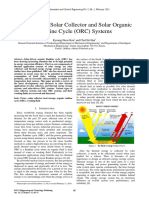 A Review on Solar Collector and Solar Organic Rankine Cycle (ORC) Systems