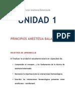 Unidad 1. Pricipios Anestesia Balanceada