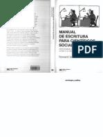 Manual de Escritura Para Científicos Sociales