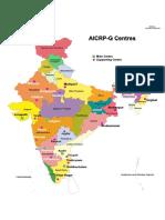 AICRP-G India Map