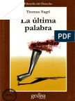 Nagel Thomas - La Ultima Palabra