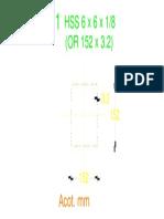 Sección HSS 6 x 6 x 0.125