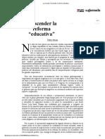 La Jornada_ Trascender La Reforma Educativa