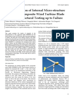 Characterization of Internal Micro-structure Damage of Composite Wind Turbine Blade Following Structural Testing up to Failure