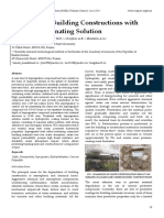 Protection of Building Constructions with Sulfur Impregnating Solution