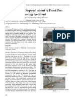 Analysis and Disposal about A Proof Pre-stressed Tensioning Accident