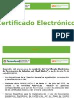 Certificado Electronico Extra