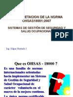 Interpretación Norma Ohsas 18001
