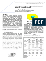 A comparative Study on Pentagonal, Hexagonal, Heptagonal and Octagonal Dielectric Resonator Antenna