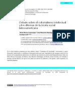 Rivera Cusicanqui, Domingues , Escobar y Leff - Debate sobre el colonialismo intelectual y dilemas de la teoría social latinoamericana (2016)