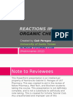 UST Pharmacy Org Chem Lec Prelims