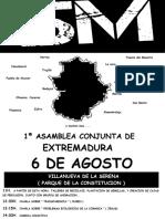 Extremadura, IU yel 15M