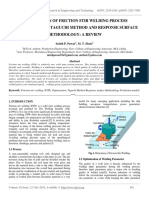 Optimization of Friction Stir Welding Process Parameter Using Taguchi Method and Response Surface Methodology