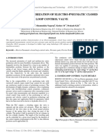 Position Characterization of Electro-pneumatic Closed Loop Control Valve