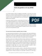 Capitulo 1º Cómo Implantar La Ley 29783 El Concepto Sistema de Gestión en La Ley 29783