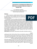 Experimental Measurements of the Mechanical Behavior of the Composite Materials and Hybrid Materials Subject to Tensile Test