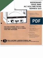 Ballantine Widebrand True RMS Voltmeters Series 323
