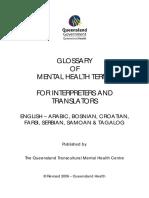 Glosar Pojmova Mentalnog Zdravlja