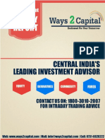 Equity Research Report 29 August 2016 Ways2Capital