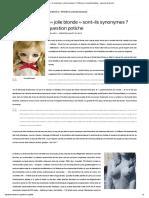 «Philosophe» et «jolie blonde» sont-ils synonymes _ Réflexions sur la question potiche.pdf