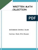 Bank Written Math Collection
