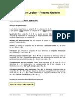 Raciocínio Lógico Para TCM RJ Prof. Marcos Piñon Resumo