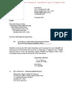 2016-08-29 Plaintiff Letter to Court (Flores v DOJ) (Stamped)