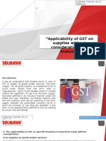 Applicability of GST on Supplies Without Consideration an Analysis