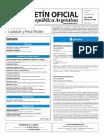 Boletín Oficial de la República Argentina, Número 33.449. 29 de agosto de 2016