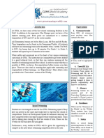 swimming newsletter to parents august 2016