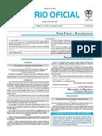 Diario oficial de Colombia n° 49.977. 26 de agosto de 2016